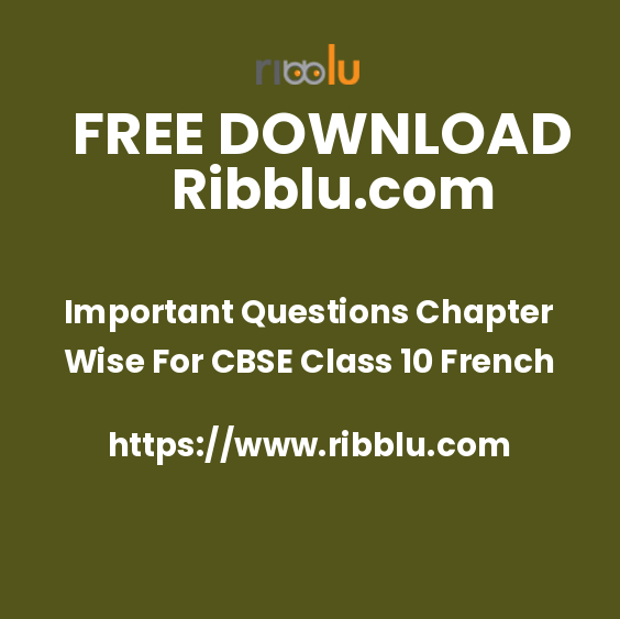 Previous Year Papers & Question Bank For Class 10 French
