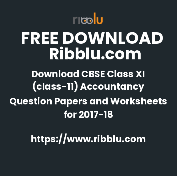 CBSE Class 11 Accountancy Sample Question Papers