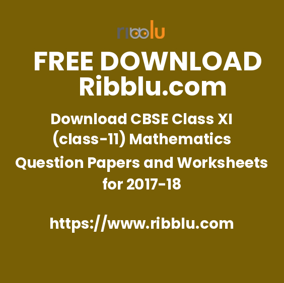 CBSE Class 11 Maths Sample Papers and Important Questions