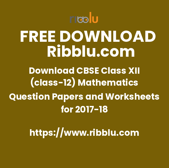 Class 12 Maths Sample Papers, Notes, Important Questions