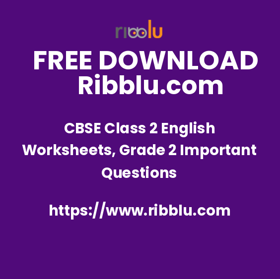 CBSE Class 2 English Worksheets and Question Papers