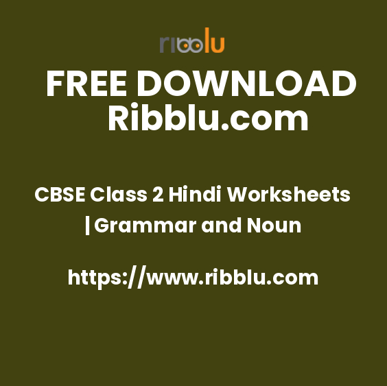 CBSE Class 2 Hindi Worksheets, Sample Papers, Questions