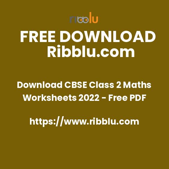 Free CBSE Class 2 Maths Worksheets | Mental Maths Practice