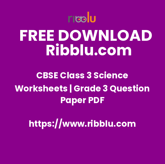 CBSE Class 3 Science Worksheets | Grade 3 Question Paper PDF