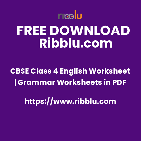 CBSE Class 4 English Grammar Worksheets, Question Papers