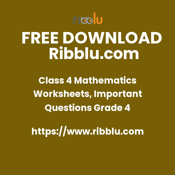 CBSE Class 4 Maths Sample Question Papers and Worksheets.