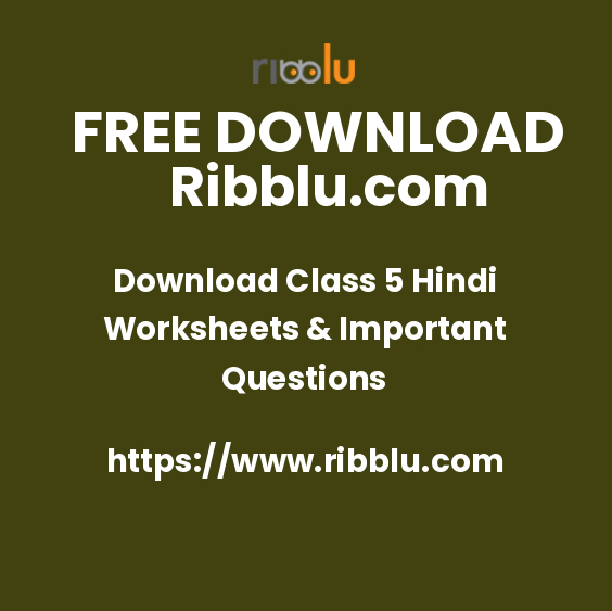 CBSE Class 5 Hindi Worksheets & Sample Question Papers