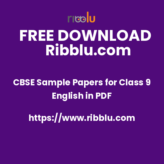 CBSE Class 9 English Sample Papers & Grammar Worksheets