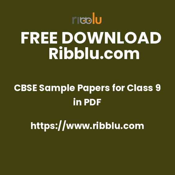 CBSE Sample Papers for Class 9 in PDF