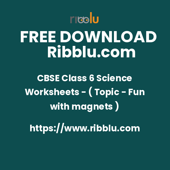 CBSE Class 6 Science Worksheets - ( Topic - Fun with magnets )