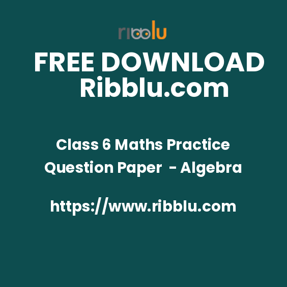 Class 6 Maths Practice Question Paper - Algebra