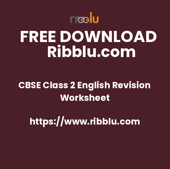 CBSE Class 2 English Revision Worksheet