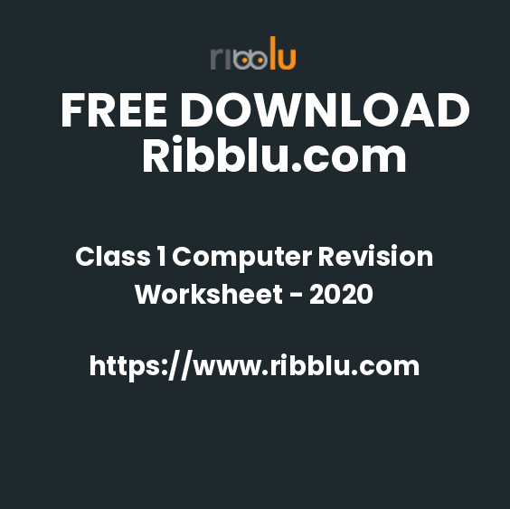 Class 1 Computer Revision Worksheet - 2020